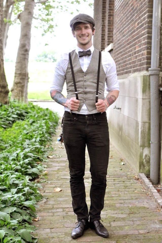 trajes de novio vintage tendencias modernas 2015