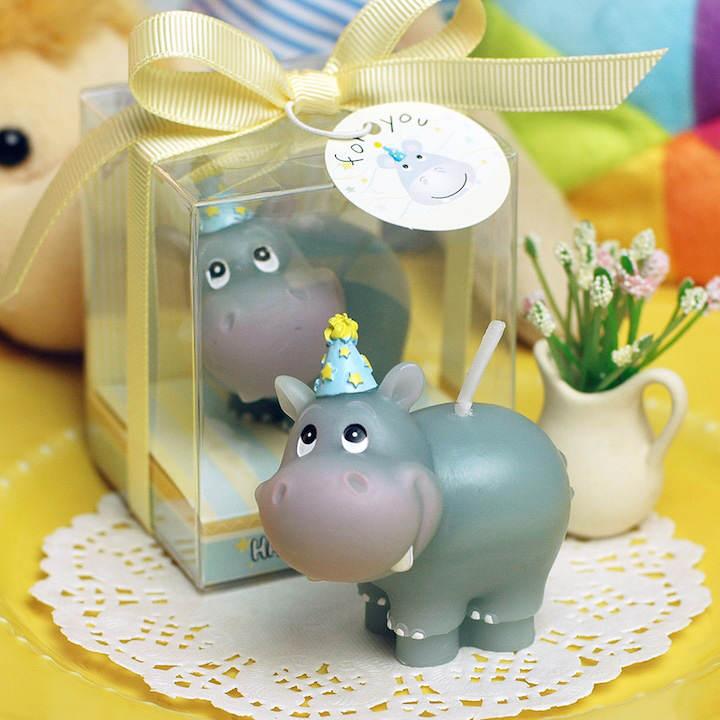 vela hipopótamo recuerdos para baby shower magnífico