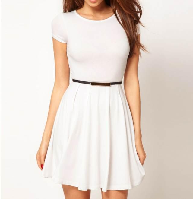 vestido precioso corto color blanco ideas bonitas