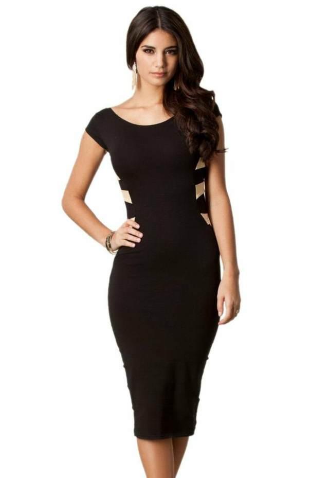 vestido precioso noviazgo color negro modelo elegante
