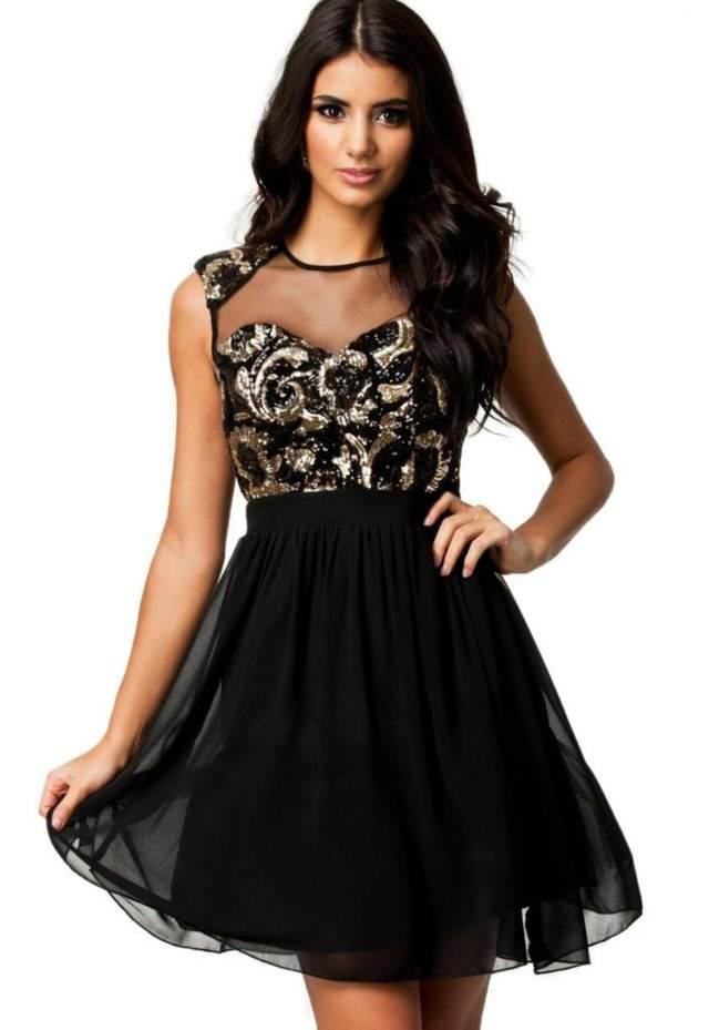 vestido negro precioso fiesta ideas maravillosas