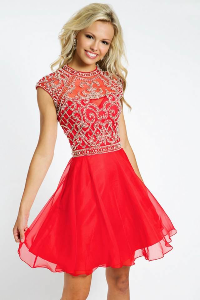vestido magnífico rojo aniversario ideas