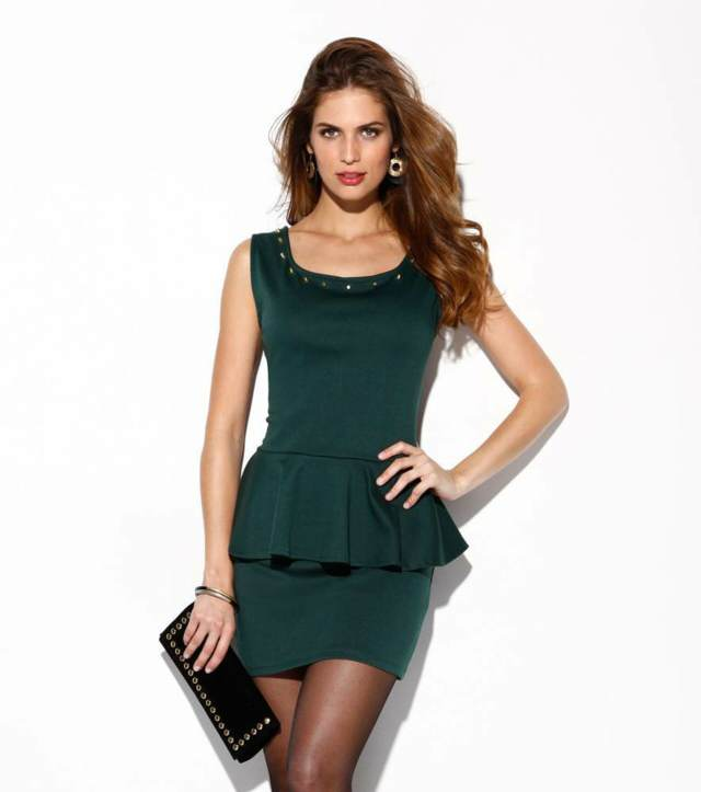 vestidos cortos color verde fiesta noviazgo ideas