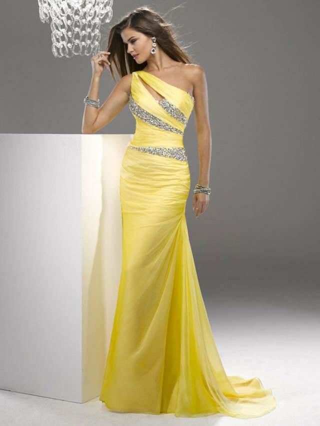vestidos de noche color llamativo ideas noviazgo