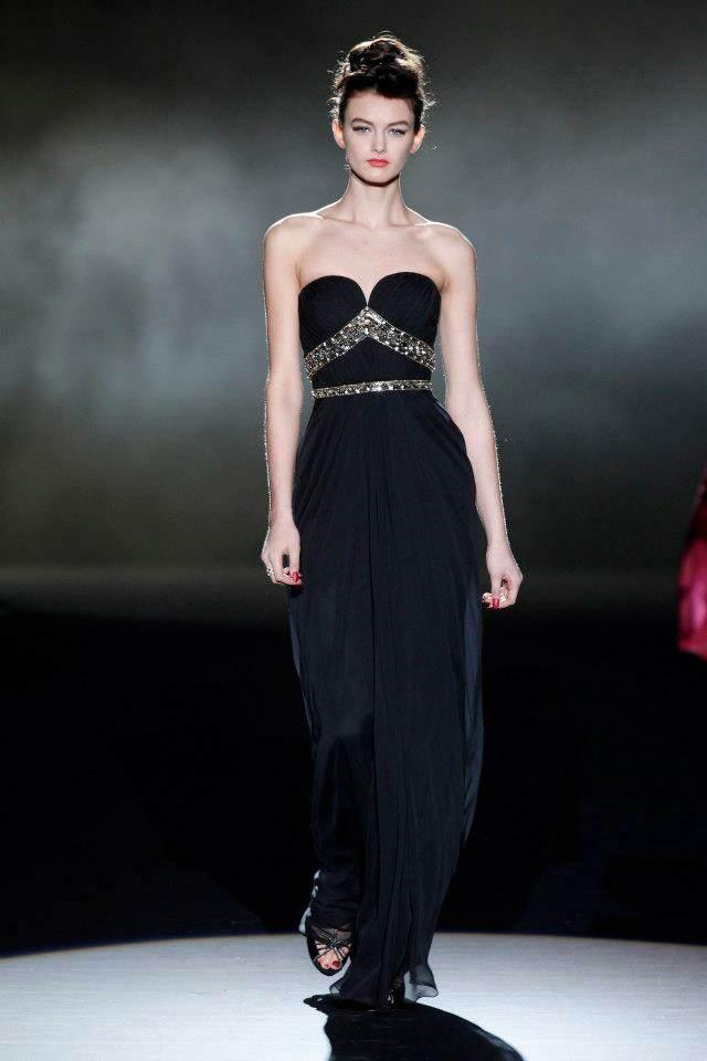 vestidos de noche color negro diseño elegante