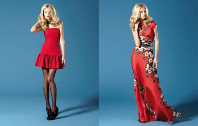 vestidos fiesta color rojo modelos originales