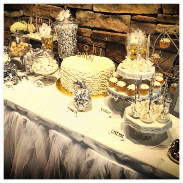 colores blanco plata oro ideas para baby shower