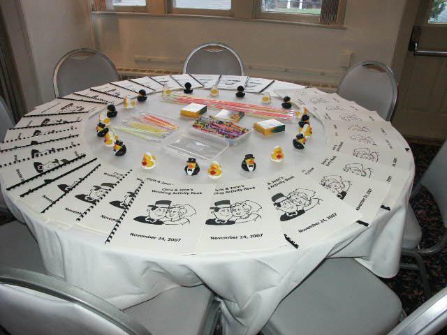bodas de plata decoración interesante caricaturas