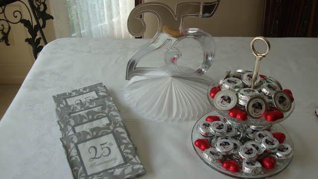 bodas de plata decoración temática fiesta
