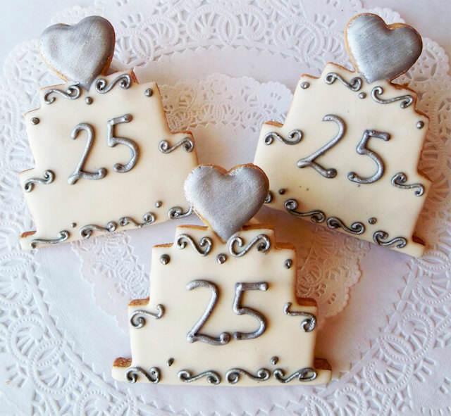 bodas de plata galletas temáticas lindas