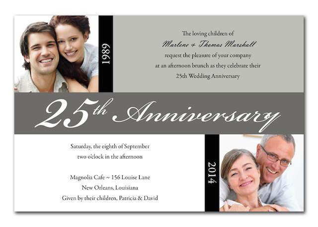 bodas de plata invitación ideas originales