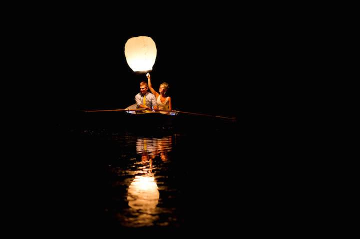 celebración romántica  acogedor noviazgo globos de cantoya