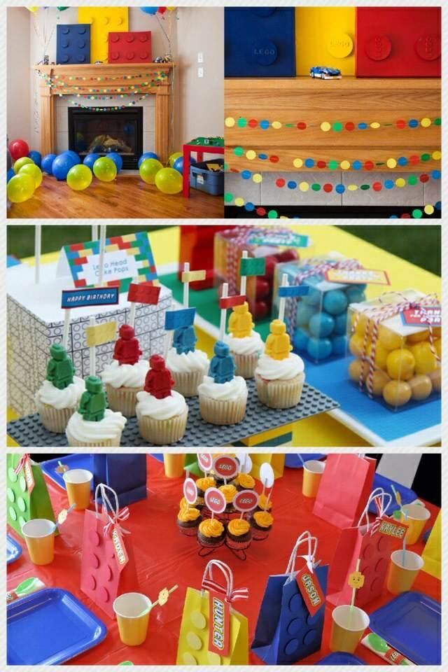 decoración de fiestas infantiles ideas temáticas tema original lego