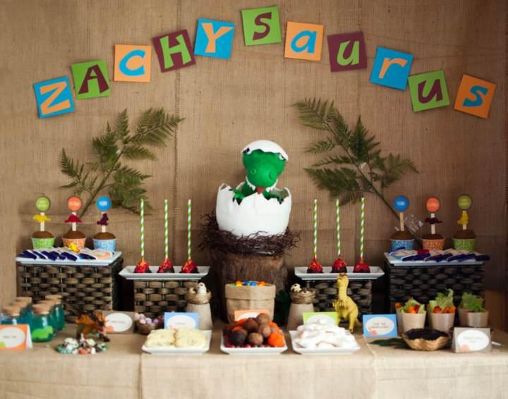 decoración de fiestas infantiles tema dinosaurio ideas originales