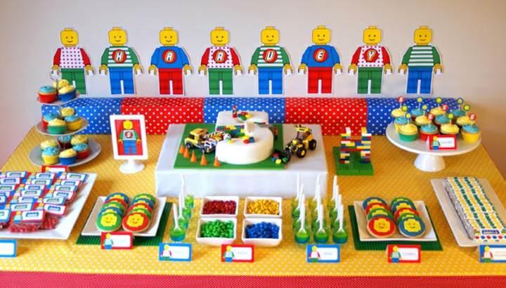 Ideas originales para decoración de fiestas infantiles: tema lego