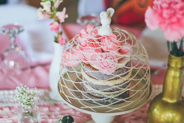 decoración de pastel fiesta jardin secreto vintage