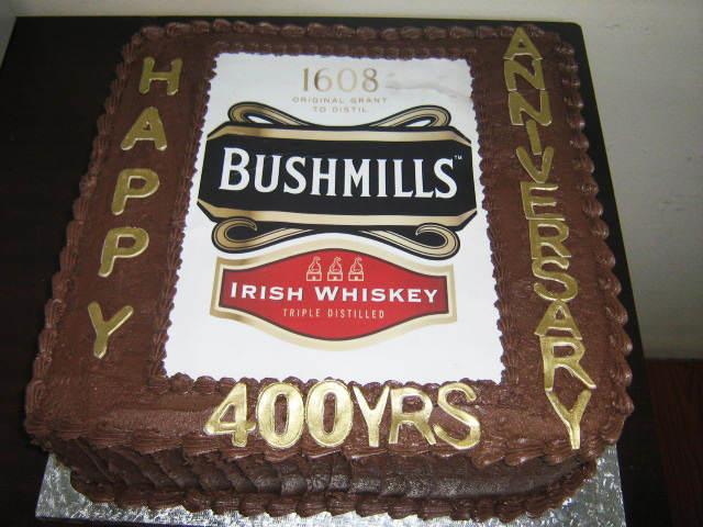 decoración de pasteles diseño original Bushmills