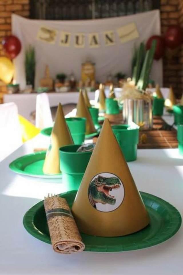 decoración temática dinosaurios ideas interesantes fiestas infantiles