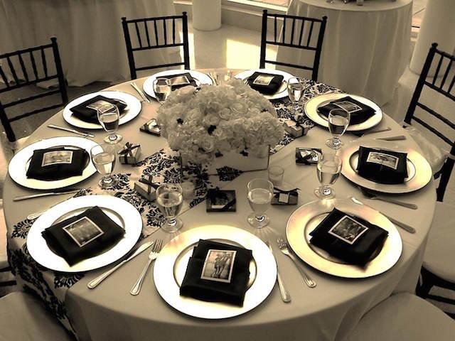 decoración elegante temática bodas de plata