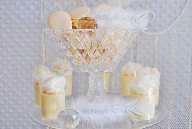 decoración dulces bautizo tema angeles