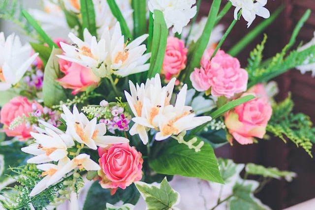 decoración fascinante flores tema jardin secreto