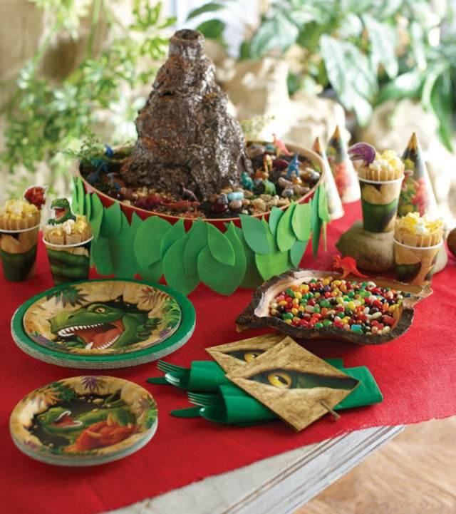 dinosaurio decoración temática fiesta infantil ideas originales