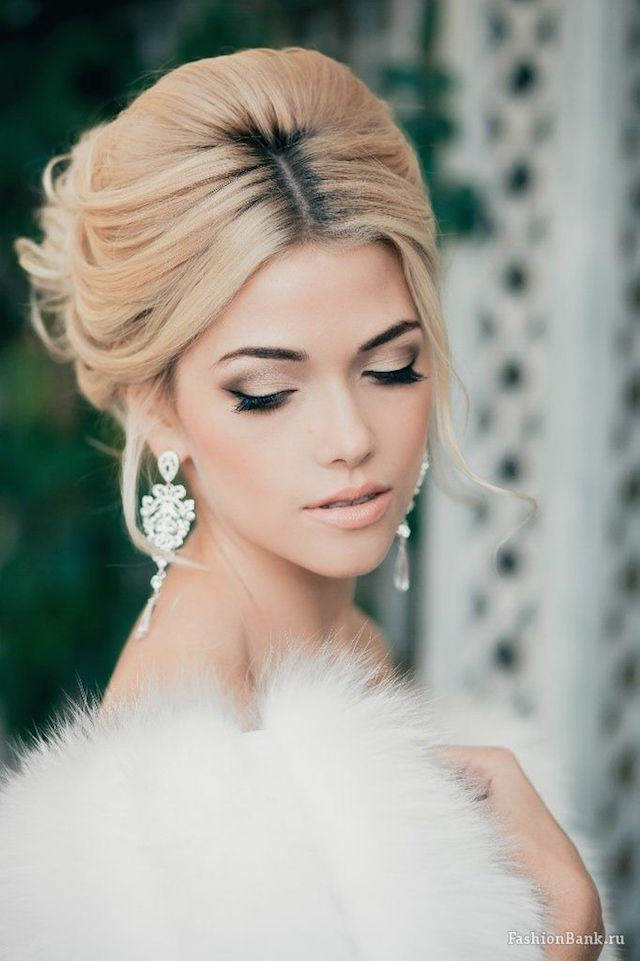 elegante maquillaje de novia vision tierna 2015