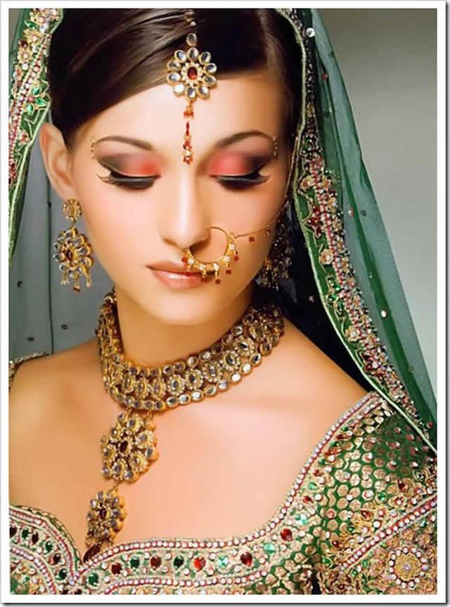 estilo indio moda 2015 maquillaje de novia