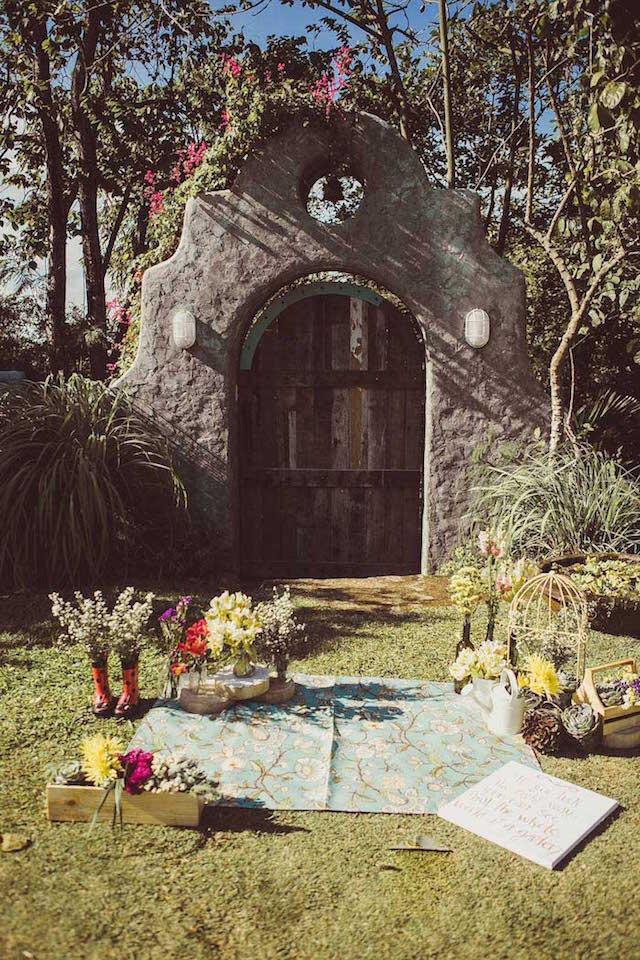 flores bonitas decoración exuberante jardín secreto