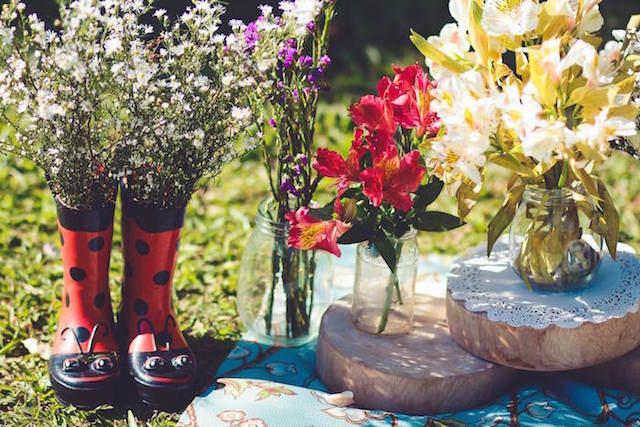 flores bonitas jardin secreto tema fiesta
