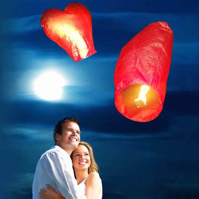 globos de cantoya momento romántico