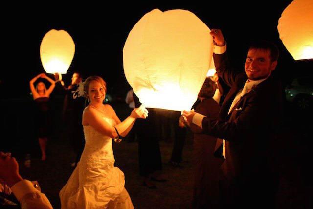 globos de cantoya novios boda mágica
