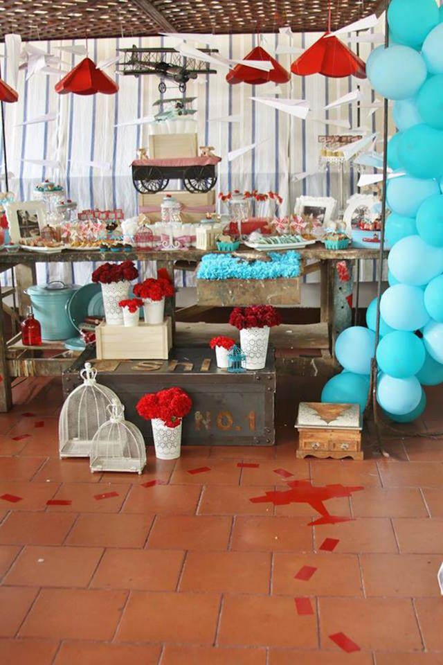 Fascinantes ideas para baby shower de tema aviones for Aviation decoration ideas