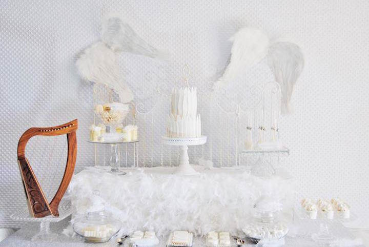 preciosas ideas para baby shower de angeles