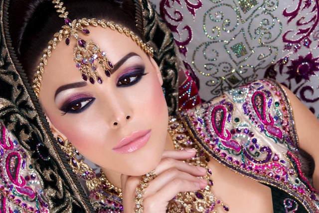 maquillaje de novia estilo indio 2015