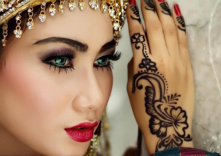 maquillaje de novia tendencias modernas árabes 2015