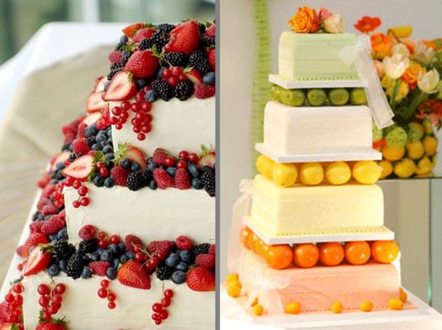 pastel frutas ideas originales decoración preciosa fiesta
