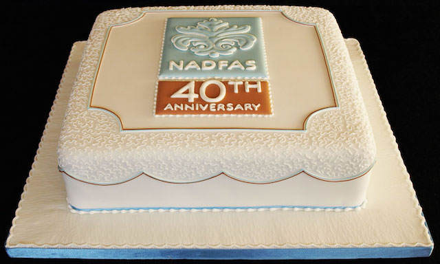 pastel corporativo forma decoración elegante