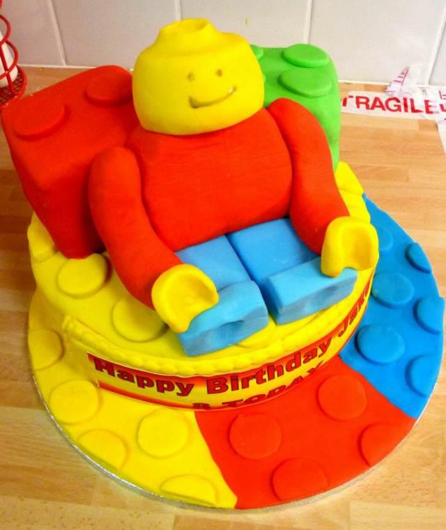 pastel temático decorado tema lego ideas fiestas infantiles