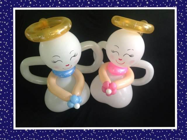 arreglos globos ideas maravillosas ángeles bautizo