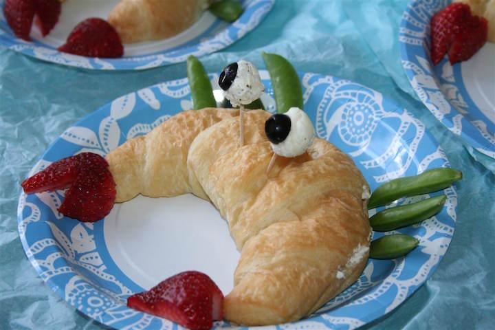 bocadillo forma cangrejo banquetes originales ideas