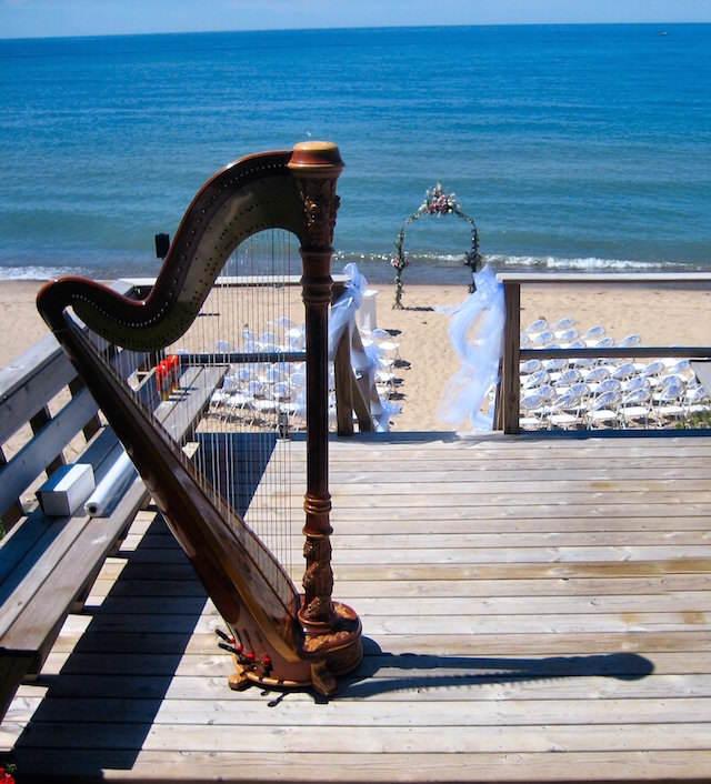 bodas en la playa musica arpa preciosa