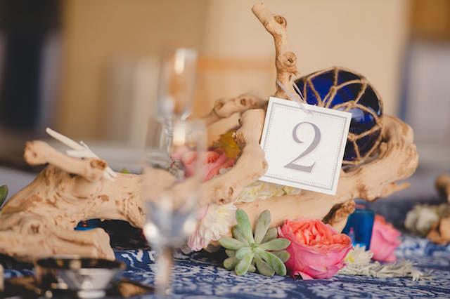 centro de mesa mar estilo rustico tema