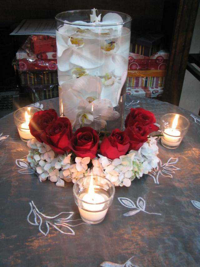Centro De Mesa Con Orquideas Decoracion Preciosa - Decorar-centro-de-mesa