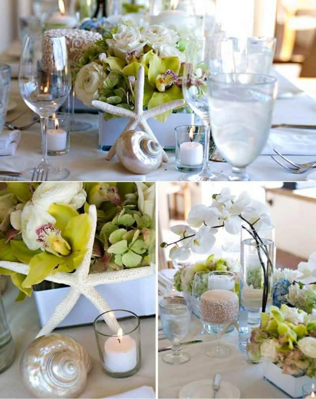 centros de mesa decoración magnífica orquídeas