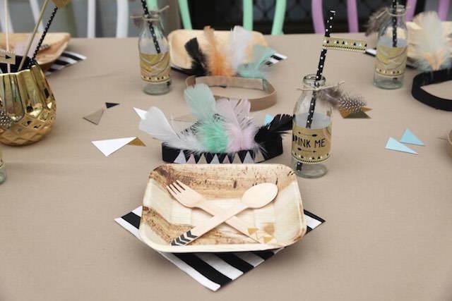 decoración de fiestas mesa temática indios