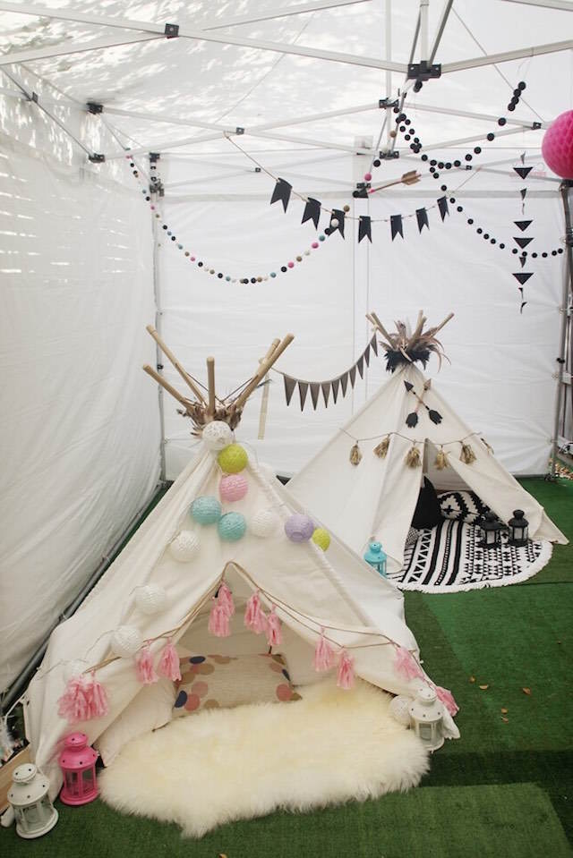 decoración de fiestas tema aztecas exótico