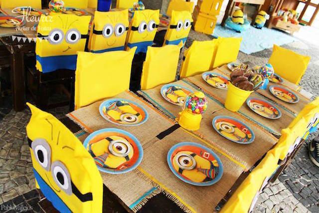 Populares Fantástica decoración de fiestas de tema Los Minions VH01