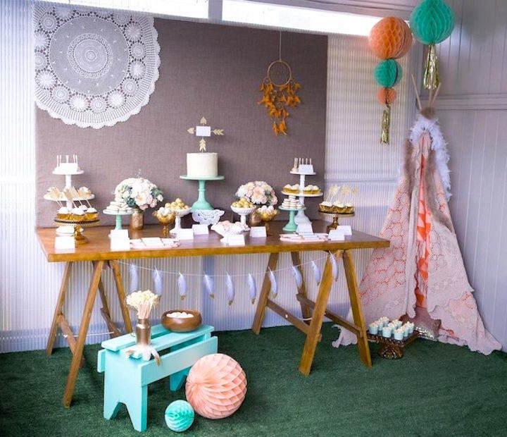 decoración de fiestas temáticas aztecas vintage