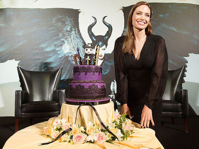 decoración de pasteles Angelina Jolie tema Maléfica